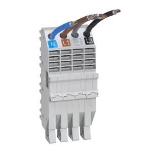 Base support à fils HX³ pour répartition horizontale en armoire XL³ des DX³ tétrapolaire 1 module par pôle LEGRAND