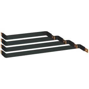 Barres cuivres rigides pour raccordement d'un DPX³250 sur un jeu de barres alu 630A à 1600A VX³ latéral derrière montant LEGRAND