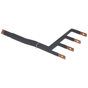 Barres cuivres rigides pour raccordement DPX³160 sur jeu de barres 1600A VX³ latéral gaine à câbles 475mm LEGRAND