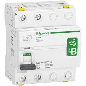 Interrupteur différentiel - 2P - 16A - 30mA - type B - EV - 230V SCHNEIDER