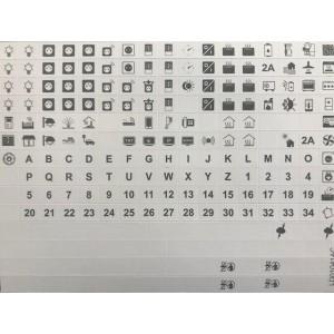 Symboles pour porte-étiquettes modulaires LEGRAND