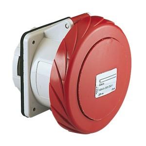 Prise industrielle droite CEE 125A 4P 380V 6U - IP67 - PRATIKA SCHNEIDER