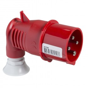 Fiche mobile indus. coudée 90° - 32 A - 3P+T - 380-415 V CA - IP44 - PRATIKA SCHNEIDER