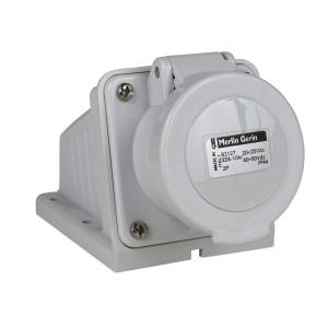 Socle de prise industrielle 32 A - 2P - 40-50 V CA - IP44 - PRATIKA SCHNEIDER