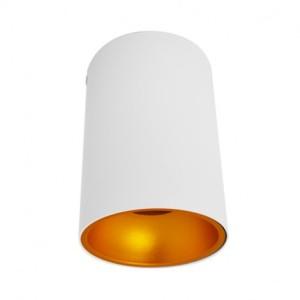 Support de spot saillie GU10 cylindre blanc / doré - (sans ampoule) VISION EL