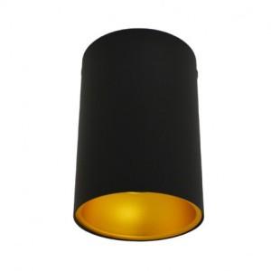 Support de spot saillie GU10 cylindre noir / doré - (sans ampoule) VISION EL