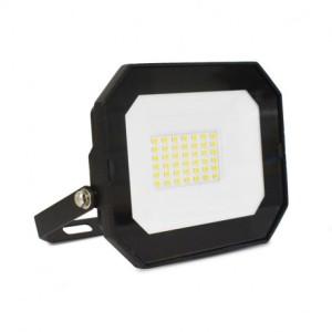 Projecteur extérieur LED sans câble 30W 4000°K - Plat - Noir VISION EL