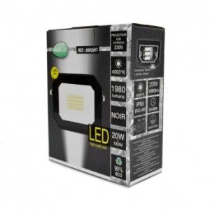 Projecteur extérieur LED sans câble 20W 4000°K - Noir VISION EL
