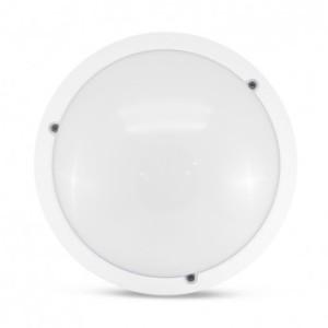 Plafonnier LED Hublot Ø300 E27 blanc IP65 + détecteur VISION EL