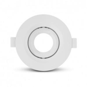 Support de spot basse luminance rond orientable blanc Ø110mm VISION EL