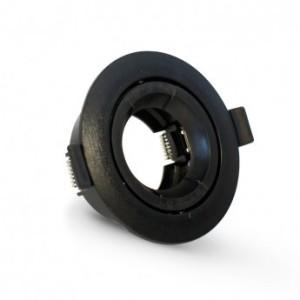 Support plafond rond orientable noir Ø90mm VISION EL