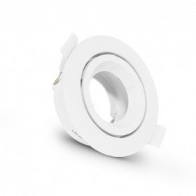 Support plafond rond orientable blanc Ø90mm VISION EL