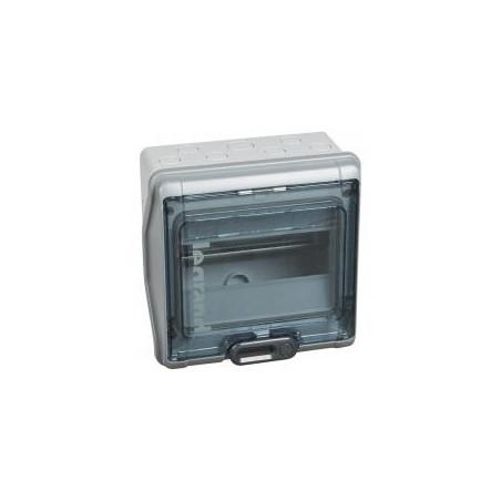 Coffret PLEXO 3 - 8 modules 1 rangée - IP65 IK09 - Gris LEGRAND