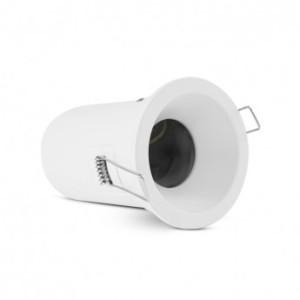 Support plafond BBC rond blanc basse luminance avec douille automatique Ø90 mm VISION EL