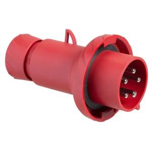 Fiche mobile industrielle droite 32 A - 3P+N+T - 380-415 V CA - IP67 - PRATIKA SCHNEIDER