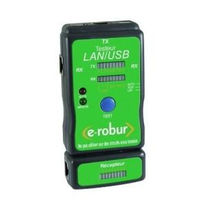 Testeur LAN/USB pour câbles réseau E-ROBUR