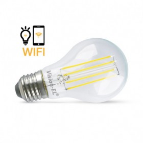 Ampoule LED E27 connectée WIFI 7W 4000K + dimmable VISION EL