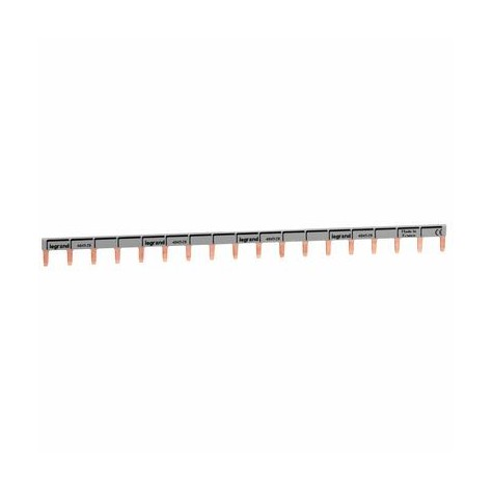 Peigne d'alimentation universel Phase + Neutre HX³ horizontale 1P - long. 18 modules LEGRAND
