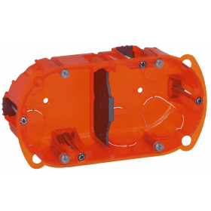 Boîte multi matériaux Batibox 2 postes 4 à 5 modules montage vertical ou horizontal - profondeur 40mm LEGRAND