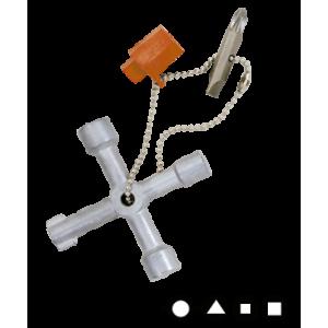 Clé en croix universelle pour armoires électriques E-ROBUR