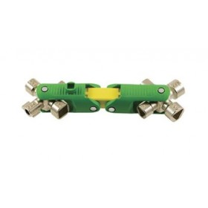 Clé universelle 9 en 1 - Multi-empreintes - Jaune et vert E-ROBUR