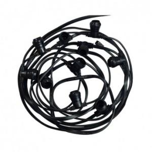 Guirlande foraine câble plat noir - 10 mètres - 20 douilles B22 VISION EL