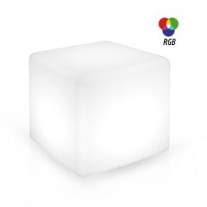 Cube lumineux RGB + télécommande - 40x40x40cm VISION EL