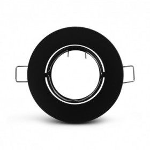 Support plafond rond orientable noir Ø92 mm VISION EL