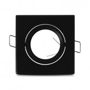Support plafond carré orientable noir 83x83mm VISION EL
