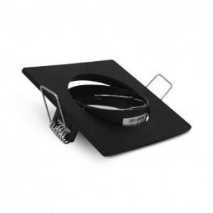 Support plafond carré orientable noir 85x85mm VISION EL