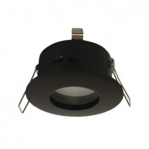 Support de spot BBC rond étanche noir Ø82mm IP65 VISION EL