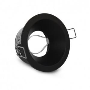 Support de spot rond basse luminance noir Ø83mm IP20 VISION EL