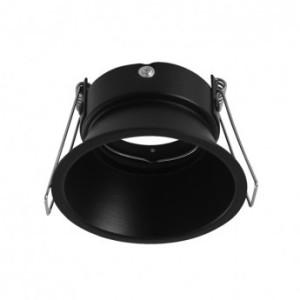 Support de spot rond basse luminance noir Ø82mm IP20 VISION EL
