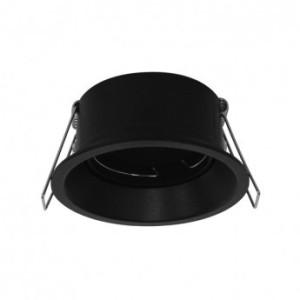 Support de spot rond basse luminance noir Ø85mm IP20 VISION EL