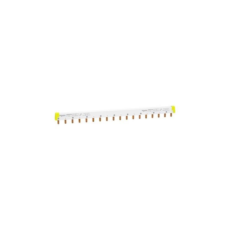 Peigne à dents - 2P - 100A - 18 modules de 18mm - Acti9 iC60 SCHNEIDER