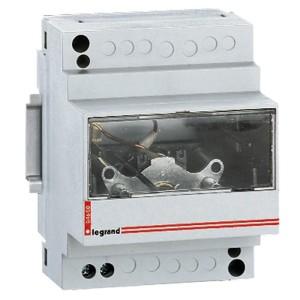 Ampèremètre analogique modulaire branchement via transformateur de courant ( TI ) - sortie 0A à 5A - 4 modules LEGRAND