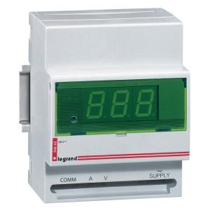 Ampèremètre ou voltmètre digital modulaire lecture 0A à 8000A et 0V à 500V - 230V~ - 50Hz à 60Hz - 4 modules LEGRAND
