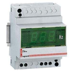 Fréquencemètre digital modulaire affichage 3 digits - mesure 10Hz à 100Hz - 230V~ - 4 modules LEGRAND