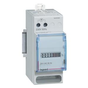 Compteur horaire totalisateur modulaire affichage numérique - 230V~ - 50Hz - 2 modules LEGRAND