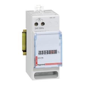 Compteur horaire totalisateur modulaire affichage numérique - 24V~ - 50Hz - 2 modules LEGRAND
