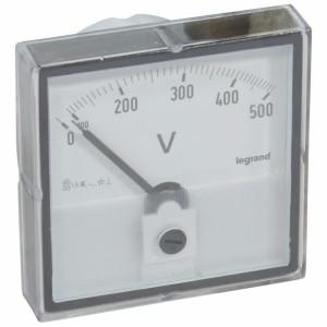 Voltmètre analogique à fût rond Ø56mm LEGRAND