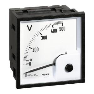 Voltmètre analogique à fût carré 68x68mm LEGRAND