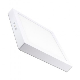 Plafonnier LED carré blanc 20W 4000°K DÜNYA LED
