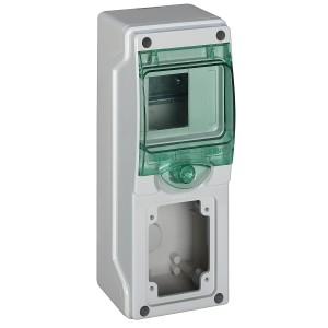 Mini coffret pour prises 98x248 mm 4 modules 1 ouverture Kaedra SCHNEIDER