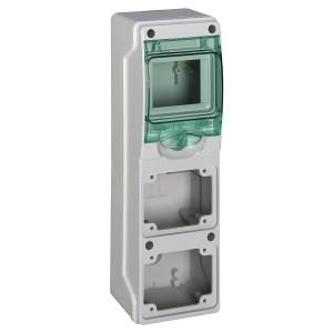 Mini coffret pour prises 98x310 mm 4 modules 2 ouvertures Kaedra SCHNEIDER