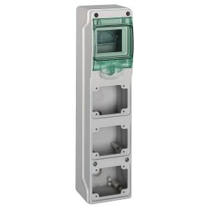 Mini coffret pour prises 98x392 mm 4 modules 3 ouvertures Kaedra SCHNEIDER