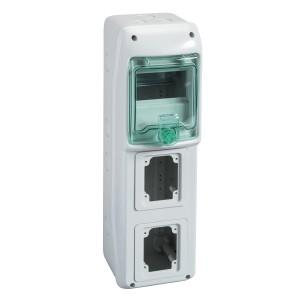 Mini coffret pour prises 138x460 mm 5 modules 2 ouvertures Kaedra SCHNEIDER