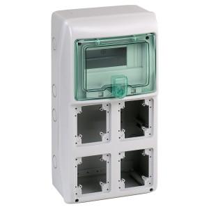 Coffret pour prises 236x460 mm 8 modules 4 ouvertures Kaedra SCHNEIDER