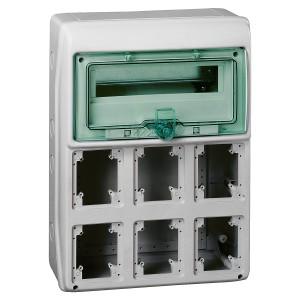 Coffret pour prises 448x460 mm 19 modules 8 ouvertures Kaedra SCHNEIDER
