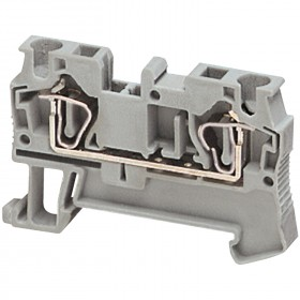 Borne à ressort - passant - 2 points - 4mm² - gris SCHNEIDER